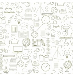 Education seamless background - vector image