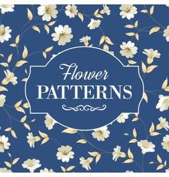 Elegant flowers fabric vector