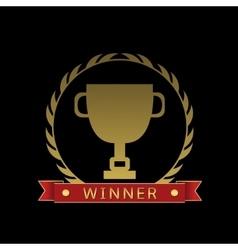Golden cup Winner vector image vector image