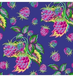 Hand painted pattern of bright colorful raspberry vector image vector image