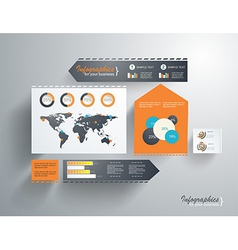 Modern web site layout vector image