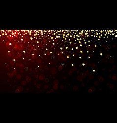 Red festive background with stars vector