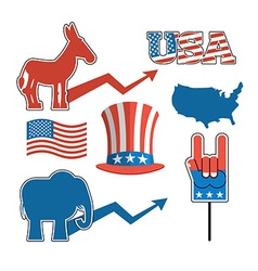 Set elections in America Uncle Sam hat American vector image vector image