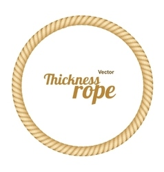 Thickness rope frames or borders circle vector