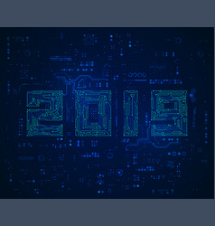 2019 electronic vector image