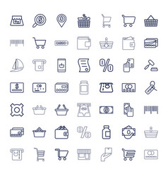 49 commerce icons vector