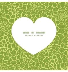 Abstract green natural texture heart vector