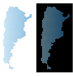 argentina map hexagonal abstraction vector image