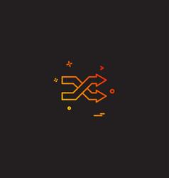 arrows icon design vector image