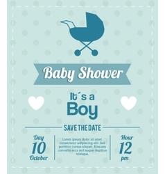 Baby Shower design stroller icon Blue vector