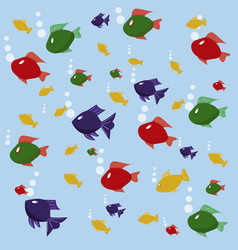 background picture with fishes vector image
