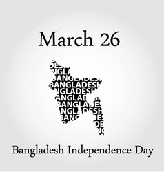 Bangladesh Independence day- March 26 vector