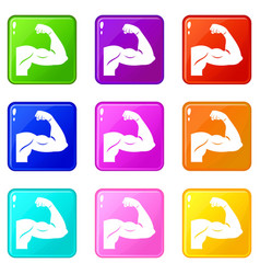 Biceps set 9 vector