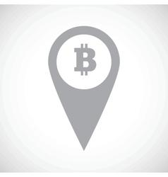 Bitcoin pointer icon vector image