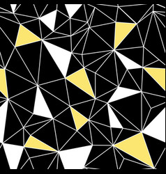 Black yellow network web texture seamless pattern vector