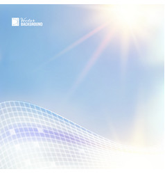 Blue sky for science theme vector