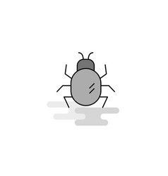 bug web icon flat line filled gray icon vector image