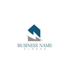 building construction business logo vector image