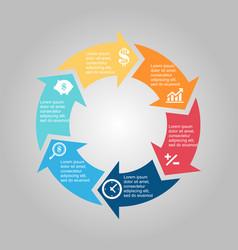 Business diagram circle vector