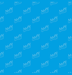 Business graph pattern seamless blue vector