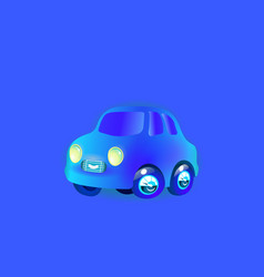 car blue most top-end toy color in style funny vector image