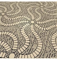Cobblestone background vector