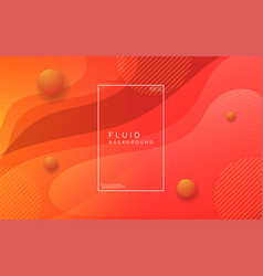 Colorful modern fluid background abstract dynamic vector