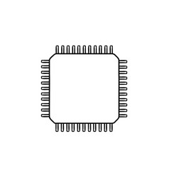 computer chip hand drawn outline doodle icon vector image