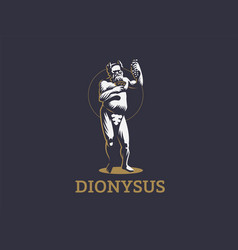 Dionysus or bacchus holds a bunch vector