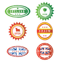 european rubber stamps vector image