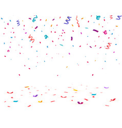 falling confetti birthday vector image