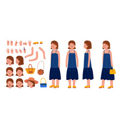 Female character constructor set vector