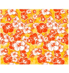 Floral seamless Hawaiian background with hibiscus vector