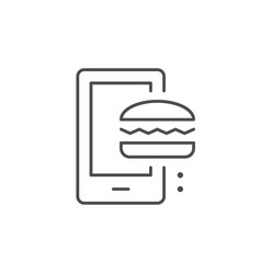 food delivery app line outline icon vector image