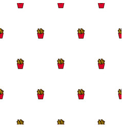 french fries fast food seamless icon vector image