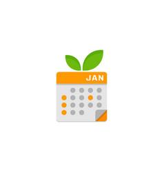fruit calendar logo icon design vector image