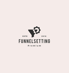 funneling setting logo icon vector image