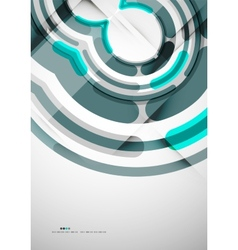 Futuristic rings background vector image