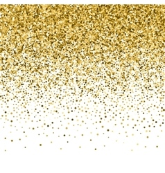 Gold glitter shine texture on a black background vector
