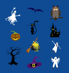 halloween icons set for your vector image