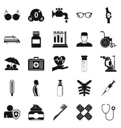 Handicapped icons set simple style vector