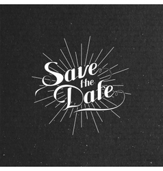 Handwritten Save the Date label vector