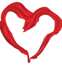 Heart shaped red scarf vector