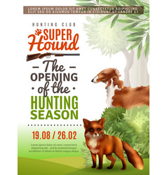 hunting season opening poster vector image