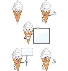 Ice cream cartoon vector image