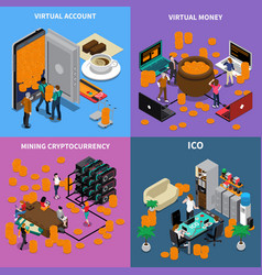 Ico isometric design concept vector