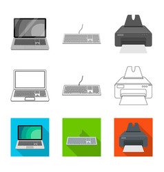 laptop and device symbol vector image