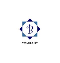 Letter b alphabetic logo design template vector