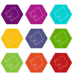 location of the house outline style vector image