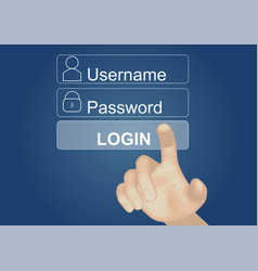 Login on touch screen vector